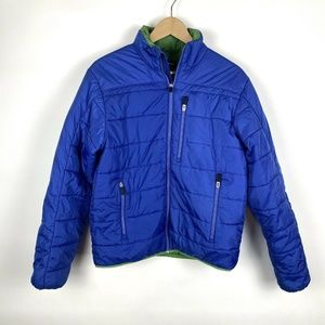 Lands End Mens Primaloft Blue Green Jacket Size S